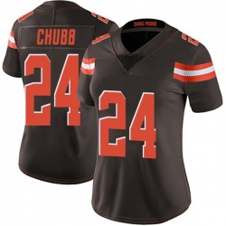 Nick Chubb Cleveland Browns Women's Limited Team Color Vapor Untouchable Nike Jersey - Brown
