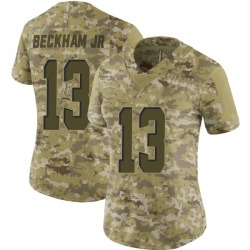 Odell Beckham Jr Cleveland Browns Women's Limited 2018 Salute to Service Nike Jersey - Camo