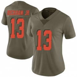 Odell Beckham Jr Cleveland Browns Women's Limited Salute to Service Nike Jersey - Green