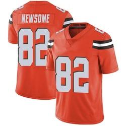 Ozzie Newsome Cleveland Browns Men's Limited Alternate Vapor Untouchable Nike Jersey - Orange