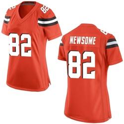 Ozzie Newsome Cleveland Browns Women's Game Alternate Nike Jersey - Orange