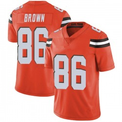 Pharaoh Brown Cleveland Browns Men's Limited Alternate Vapor Untouchable Nike Jersey - Orange