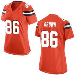 Pharaoh Brown Cleveland Browns Women's Game Alternate Nike Jersey - Orange