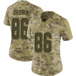 Pharaoh Brown Cleveland Browns Women's Limited 2018 Salute to Service Nike Jersey - Camo