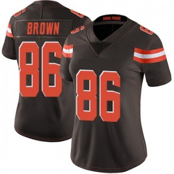Pharaoh Brown Cleveland Browns Women's Limited Team Color Vapor Untouchable Nike Jersey - Brown