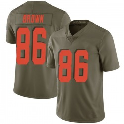 Pharaoh Brown Cleveland Browns Youth Limited Salute to Service Nike Jersey - Green