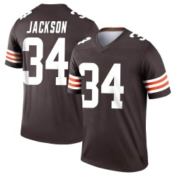 Robert Jackson Cleveland Browns Men's Legend Nike Jersey - Brown
