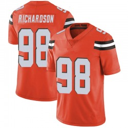Sheldon Richardson Cleveland Browns Men's Limited Alternate Vapor Untouchable Nike Jersey - Orange