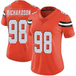 Sheldon Richardson Cleveland Browns Women's Limited Alternate Vapor Untouchable Nike Jersey - Orange