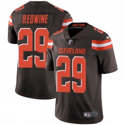 Sheldrick Redwine Cleveland Browns Men's Limited Brown Team Color Vapor Untouchable Nike Jersey - Red