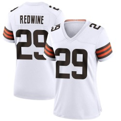 Sheldrick Redwine Cleveland Browns Women's Game Nike Jersey - White