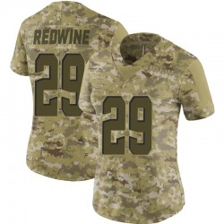 Sheldrick Redwine Cleveland Browns Women's Limited Camo 2018 Salute to Service Nike Jersey - Red
