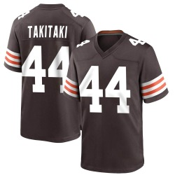 Sione Takitaki Cleveland Browns Men's Game Team Color Nike Jersey - Brown