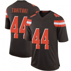Sione Takitaki Cleveland Browns Men's Limited 100th Vapor Nike Jersey - Brown