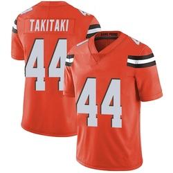 Sione Takitaki Cleveland Browns Men's Limited Alternate Vapor Untouchable Nike Jersey - Orange