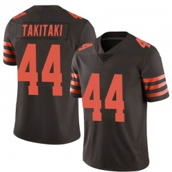 Sione Takitaki Cleveland Browns Men's Limited Color Rush Nike Jersey - Brown