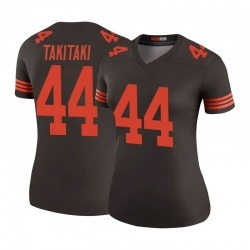 Sione Takitaki Cleveland Browns Women's Color Rush Legend Nike Jersey - Brown
