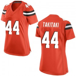 Sione Takitaki Cleveland Browns Women's Game Alternate Nike Jersey - Orange
