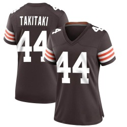 Sione Takitaki Cleveland Browns Women's Game Team Color Nike Jersey - Brown