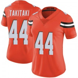 Sione Takitaki Cleveland Browns Women's Limited Alternate Vapor Untouchable Nike Jersey - Orange