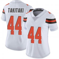 Sione Takitaki Cleveland Browns Women's Limited Vapor Untouchable Nike Jersey - White