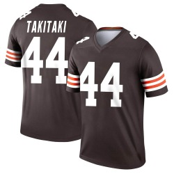 Sione Takitaki Cleveland Browns Youth Legend Nike Jersey - Brown