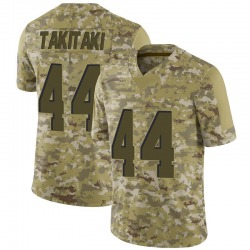 Sione Takitaki Cleveland Browns Youth Limited 2018 Salute to Service Nike Jersey - Camo