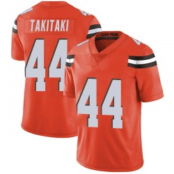 Sione Takitaki Cleveland Browns Youth Limited Alternate Vapor Untouchable Nike Jersey - Orange