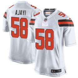 Solomon Ajayi Cleveland Browns Men's Game Nike Jersey - White