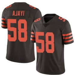 Solomon Ajayi Cleveland Browns Men's Limited Color Rush Nike Jersey - Brown