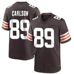 Stephen Carlson Cleveland Browns Men's Game Team Color Nike Jersey - Brown