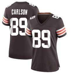 Stephen Carlson Cleveland Browns Women's Game Team Color Nike Jersey - Brown