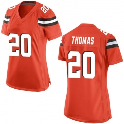 Tavierre Thomas Cleveland Browns Women's Game Alternate Nike Jersey - Orange