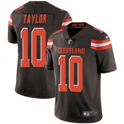Taywan Taylor Cleveland Browns Men's Limited Team Color Vapor Untouchable Nike Jersey - Brown