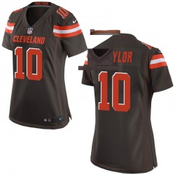 Taywan Taylor Cleveland Browns Women's Game Team Color Nike Jersey - Brown