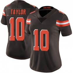 Taywan Taylor Cleveland Browns Women's Limited Team Color Vapor Untouchable Nike Jersey - Brown