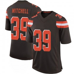 Terrance Mitchell Cleveland Browns Men's Limited 100th Vapor Nike Jersey - Brown