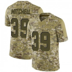 Terrance Mitchell Cleveland Browns Men's Limited 2018 Salute to Service Nike Jersey - Camo