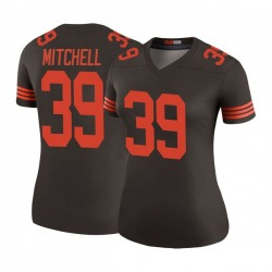 Terrance Mitchell Cleveland Browns Women's Color Rush Legend Nike Jersey - Brown