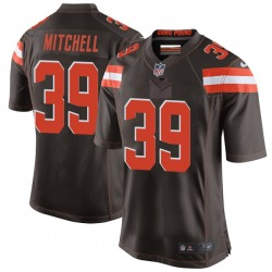 Terrance Mitchell Cleveland Browns Youth Game Team Color Nike Jersey - Brown