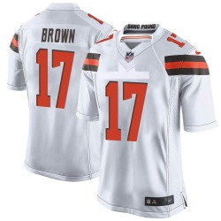 Tony Brown Cleveland Browns Youth Game Nike Jersey - White