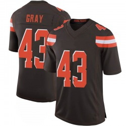 Trayone Gray Cleveland Browns Men's Limited 100th Vapor Nike Jersey - Brown
