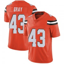 Trayone Gray Cleveland Browns Men's Limited Alternate Vapor Untouchable Nike Jersey - Orange