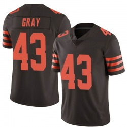 Trayone Gray Cleveland Browns Men's Limited Color Rush Nike Jersey - Brown