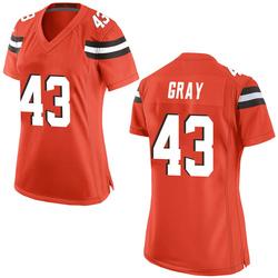 Trayone Gray Cleveland Browns Women's Game Alternate Nike Jersey - Orange