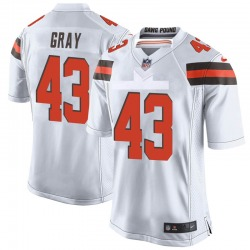 Trayone Gray Cleveland Browns Youth Game Nike Jersey - White