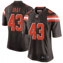 Trayone Gray Cleveland Browns Youth Game Team Color Nike Jersey - Brown
