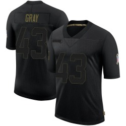 Trayone Gray Cleveland Browns Youth Limited 2020 Salute To Service Nike Jersey - Black