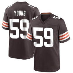 Trevon Young Cleveland Browns Men's Game Team Color Nike Jersey - Brown