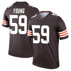 Trevon Young Cleveland Browns Men's Legend Nike Jersey - Brown